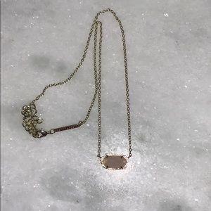 Kendra Scott Elise Rose Quartz Necklace